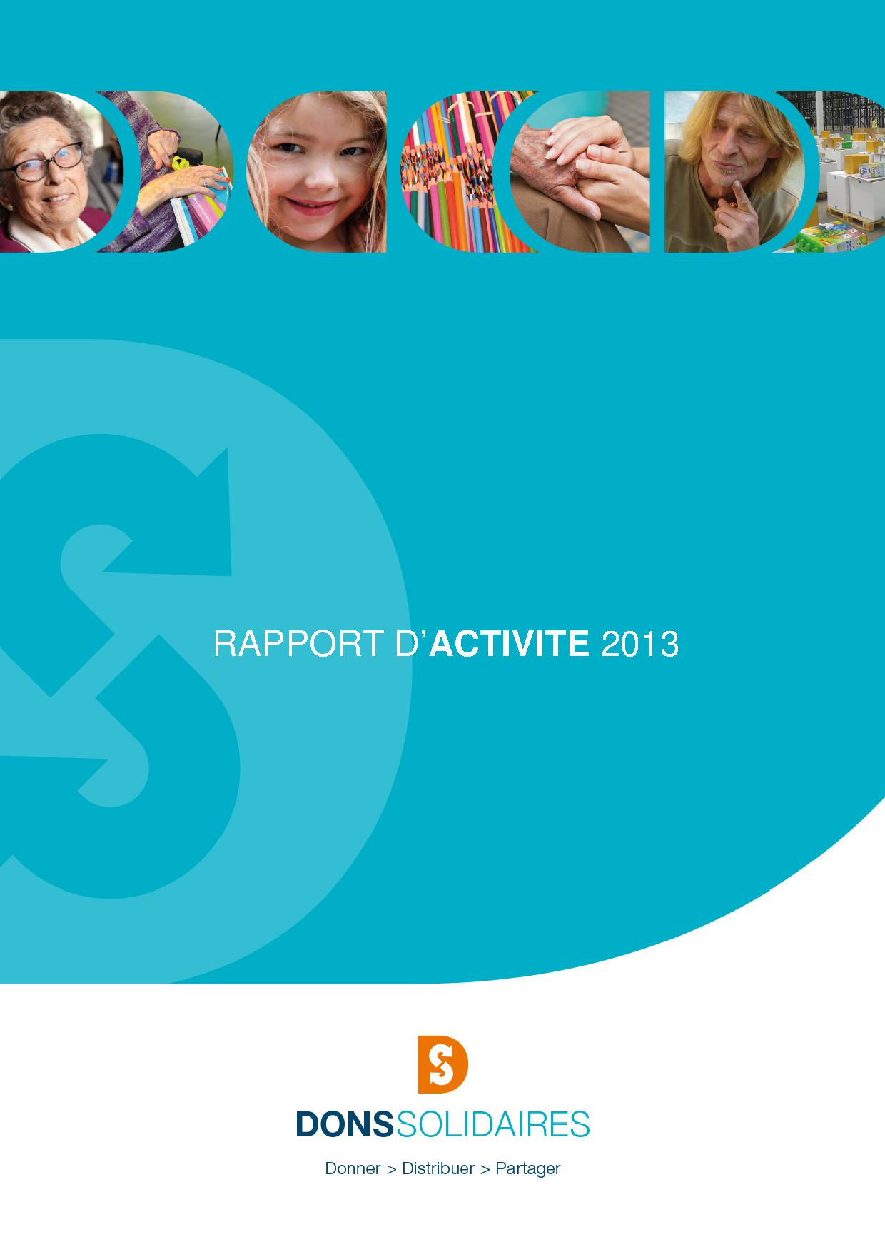 RAPPORT D'ACTIVITE 2013 - DONS SOLIDAIRES site
